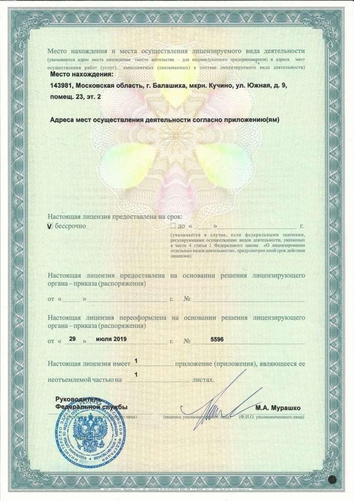 Лицензия на осуществление деятельности по производству и техническому обслуживанию (страница 2)