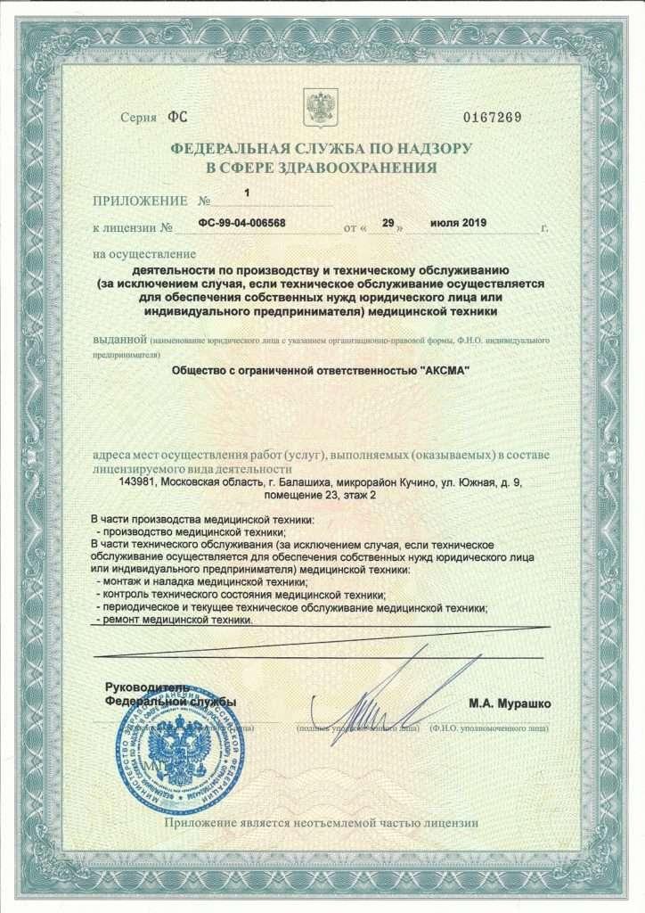 Лицензия на осуществление деятельности по производству и техническому обслуживанию (страница 3)